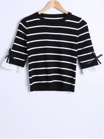 Trendy Striped Knit Thin Sweater