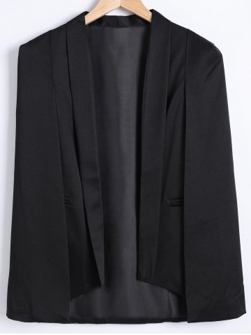 Sale Asymmetrical Caped Long Sleeves Blazer
