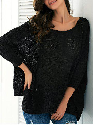 Outfit Batwing Sleeve Knitted Smock Blouse