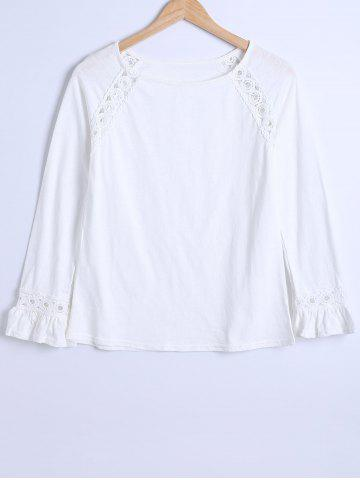 Long Sleeve Crochet Insert Blouse