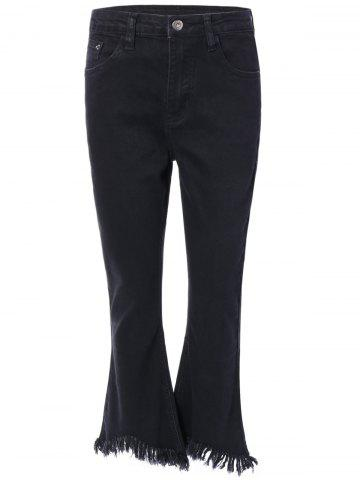 Outfits Frayed Trim Bootcut Jeans