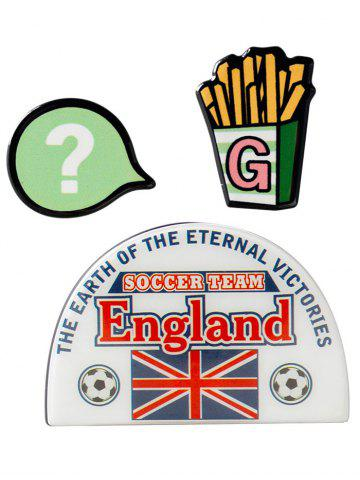 Angleterre de football français Brooches Fries Pattern