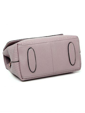 Shops PU Leather Woven Crossbody Bag - PINK  Mobile
