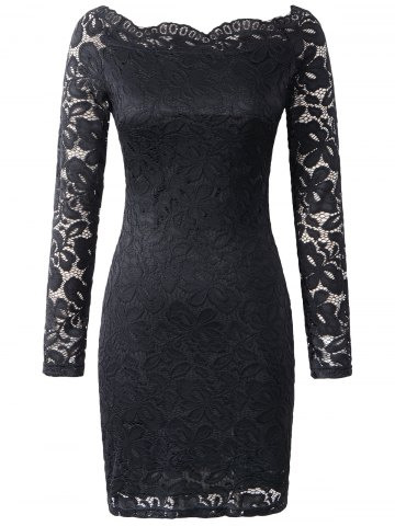 Trendy Off The Shoulder Cut Out Slimming Dress