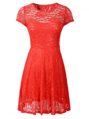 Outfits Cut Out Floral Pattern Slimming Dress