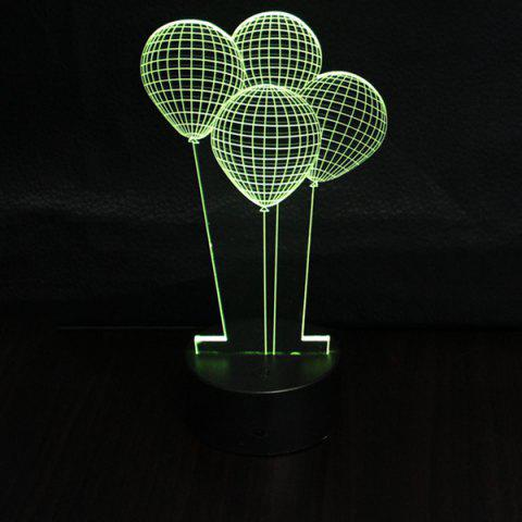 Fashion 3D Colorful Balloon Shape Telecontrol Ombre Night Light - COLORFUL  Mobile