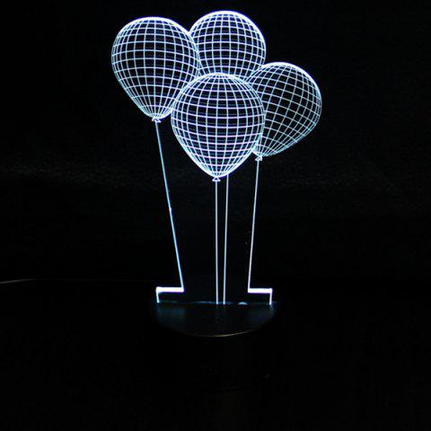 Shops 3D Colorful Balloon Shape Telecontrol Ombre Night Light - COLORFUL  Mobile