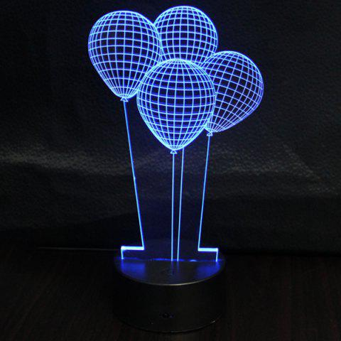 Outfit 3D Colorful Balloon Shape Telecontrol Ombre Night Light - COLORFUL  Mobile