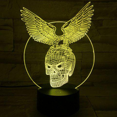 Fancy 3D Visual Touching Hawk Skull Shape Ombre Night Light - COLORFUL  Mobile