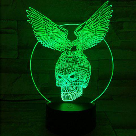 Shops 3D Visual Touching Hawk Skull Shape Ombre Night Light - COLORFUL  Mobile