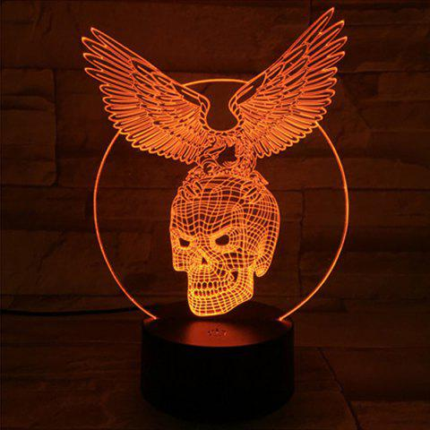 Outfit 3D Visual Touching Hawk Skull Shape Ombre Night Light - COLORFUL  Mobile