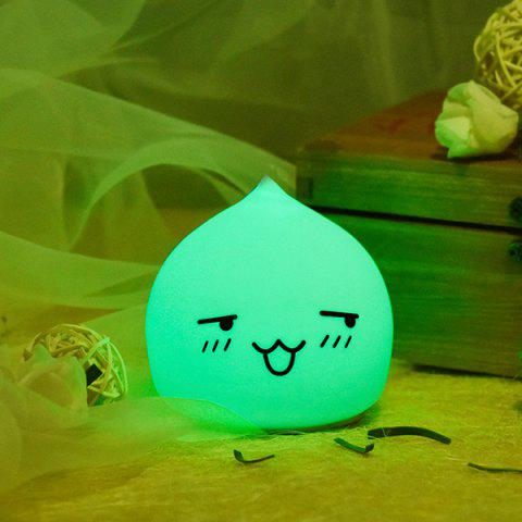 Fashion Colorful LED Waterdrop Emoticon Cartoon Ombre Night Light - COLORFUL  Mobile