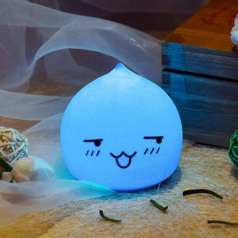 Outfit Colorful LED Waterdrop Emoticon Cartoon Ombre Night Light - COLORFUL  Mobile