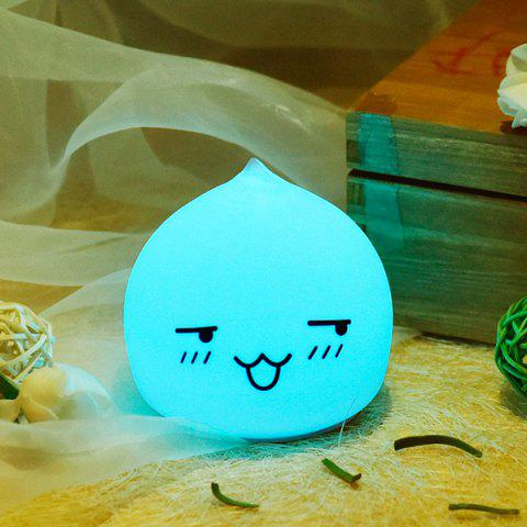 Chic Colorful LED Waterdrop Emoticon Cartoon Ombre Night Light - COLORFUL  Mobile
