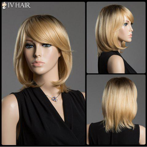 Hot Straight Tail Adduction Siv Hair Capless Medium Ombre Color Human Hair Wig