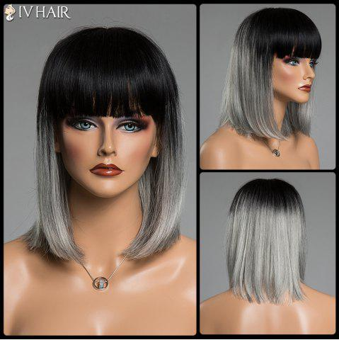 Straight Full Bang Human Hair Medium Capless Wig