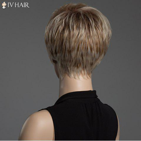 Shops Short Pixie Cut Human Hair Straight Mixed Color Capless Siv Hair Wig - COLORMIX  Mobile