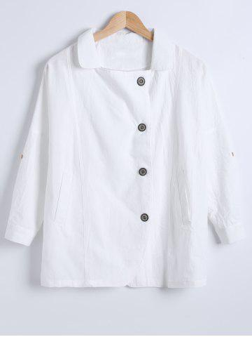 New Single-Buttoned Linen Pure Color Blazer