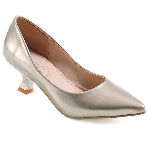 Discount Pointed Toe Strange Heel Pumps