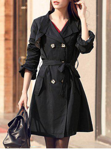 Shops Puff Sleeve Belted Trench Coat