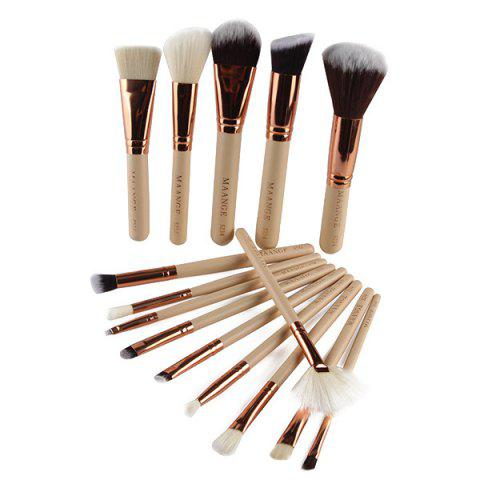Shops 15 Pcs Nylon Face Eye Lip Makeup Brush Set - COMPLEXION  Mobile