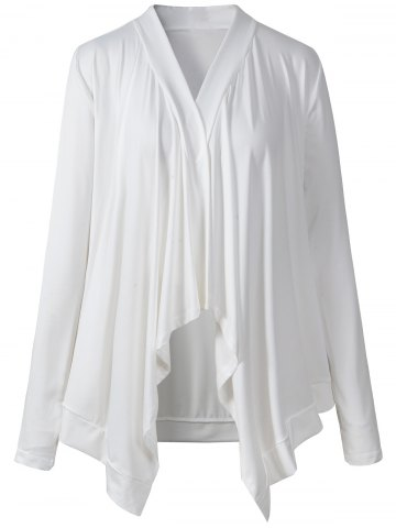 Buy Asymmetrical Ruched Thin Outerwear