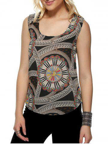 New Tribal Pattern Colormix Tank Top