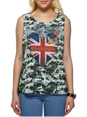 Hot Camouflage Flag Pattern Tank Top