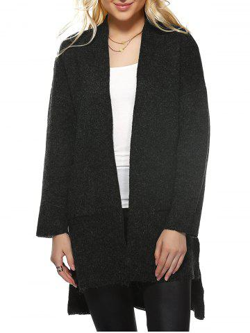 Outfit High Low Hem Knitted Coat