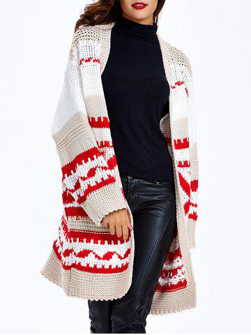 Best Loose-Fitting Tribal Jacquard Cardigan
