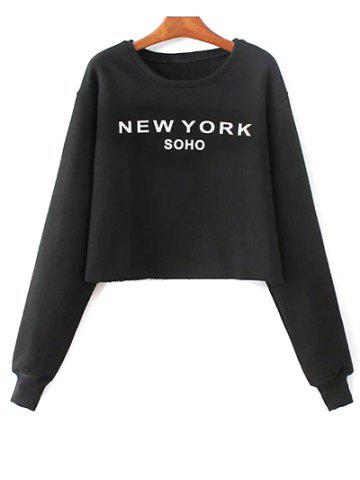 Fancy Long Sleeve Round Neck Letter Print Sweatshirt