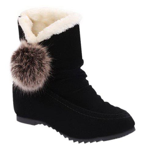Affordable Pompon Slip On Snow Boots