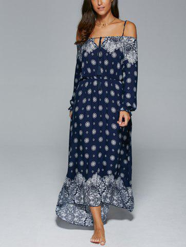 Unique Bohemian Spaghetti Strap Tribal Print Maxi Dress