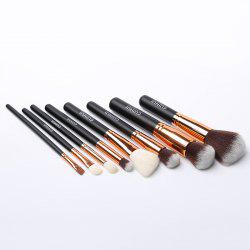 Stylish 8 Pcs Wool Nylon Facial Eye Makeup Brushes Set