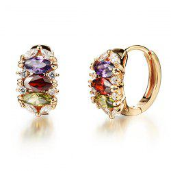 Pair of Multicolored Rhinestone Charm Earrings