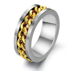 Link Chain Charm Steel Ring - SILVER