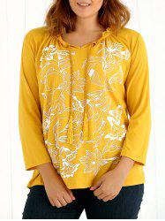 Long Sleeves Tassel Floral Print T-Shirt