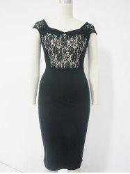 Lace Cut Out Sheath Dress