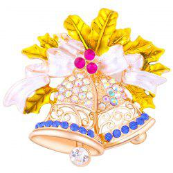Rhinestone Aeolian Bells Brooch - YELLOW