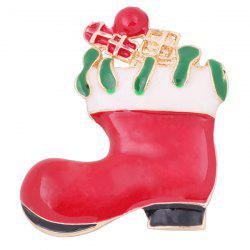 Broche Boot Noël - Rouge