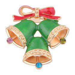 Bowknot strass Bells Broche - Emerald