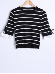 Striped Knit Thin Sweater -