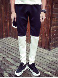 Two-Tone Drawstring Waist Pants
