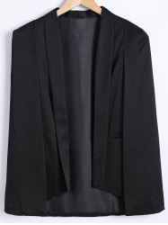 Asymmetrical Caped Long Sleeves Blazer -