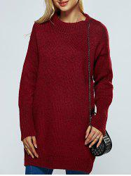 Round Neck Ribbed Long Sweater