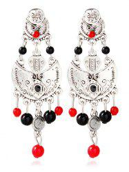 Alloy Beaded Antique Engraved Earrings