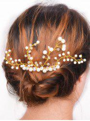 Faux Pearl Rhinestone Party Hair Comb -