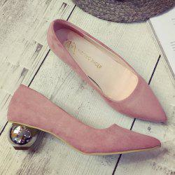 Pointed Toe Strange Style Metal Pumps -