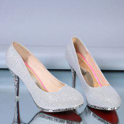 Rhinestones Stiletto Heel Platform Pumps