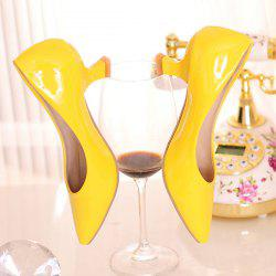 Pointed Toe Strange Heel Pumps - YELLOW
